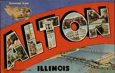 Greetings From Alton Illinois Large Letter