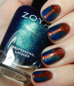 Fall Nail Art with Shades from the Zoya Ignite Collection