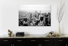 "A Cityscape Photo Canvas Print | Enter to win a free canvas print from CanvasPop simply by repinning from our ""CanvasPop Pin to Win Contest"" board 