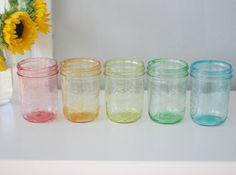 DIY: Tinted Mason Jars in Rainbow | Say Yes to Hoboken