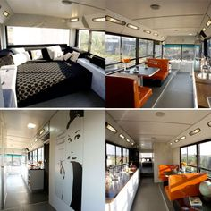 This is one cool camper bus conversion! Gotta love peeps that can make an awesome motorhome out of an old bus! (Click for more pics!)