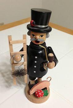 German Wooden Smoker Incense Burner Lucky Chimney Sweep | eBay