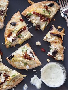 Chicken Tzatziki Pizza from @Heidi | FoodieCrush