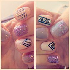 nail glitter, tribal glitter, nail arts, glitter nails, tribal nails, art nailart, glitter mani