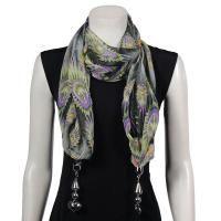 Beautiful Chiffon Scarves with Hanging Pendants - $19.95