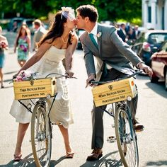 Valentine's Day may be over, but we just love this picture taken by Rodeo & Co. of newlyweds riding our bikes! #loveisintheair #cantspellLOVEwithoutVELO