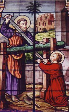 stain glass, cathol saint, saint unit