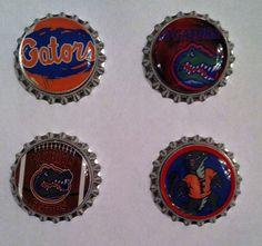 Florida Gators Bottle Cap Magnets  Set of 4 by WhimsyWoodcrafts, $4.50