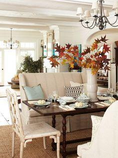 Fall Nesting around the table. BHG