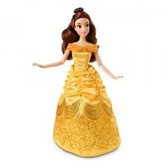The Disney Princess Classic Belle doll is part of Disney Store's exclusive line of 12-inch classic collection of Disney Princess dolls.