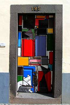 The painted doors of Old Funchal, Madeira I Street Art #Graffiti