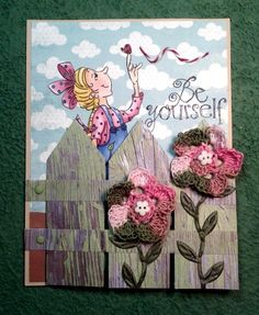 Picket fence card closed