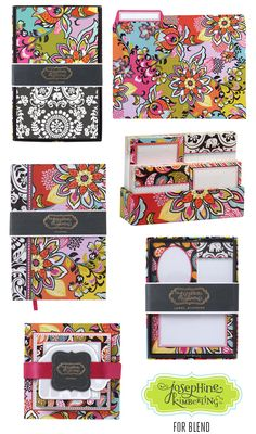 Global Bazaar stationery by Josephine Kimberling for Blend, the Licensing Division of Anna Griffin, Inc.