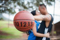 basketball engagement photo