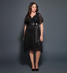Retro Glam Lace Dress @ www.kiyonna.com