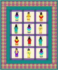 Sunbonnet-Sue-Quilt with native American gals....HELP, HELP... how do I find this pattern??