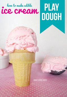 An edible ICE CREAM PLAY DOUGH recipe that your kids will fall in love with!