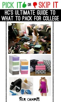 Pick It Or Skip It: Her Campus's Ultimate Guide to What to Pack for College