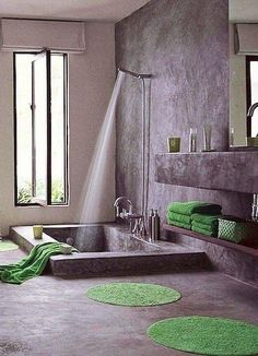 tub/shower combo with no doors/curtains I just LOVE the idea of NO tracks or doors or anything to get all gunky!!!
