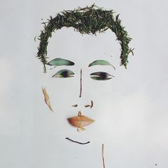 foliage portrait of @Jonathan Nafarrete Nafarrete Lo / happymundane by Justina Blakeney #facethefoliage