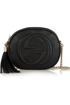 soho textured-leather shoulder bag / gucci