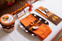 kids' thanksgiving place settings