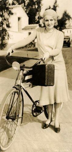 bike, hollywood rides a bike, anita page