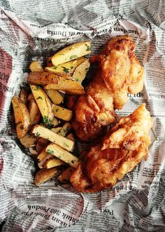 fish & chips out of newspaper