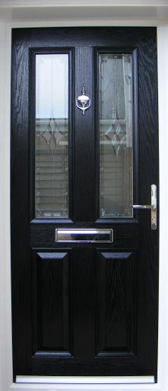 FRONT DOOR Glossy Black