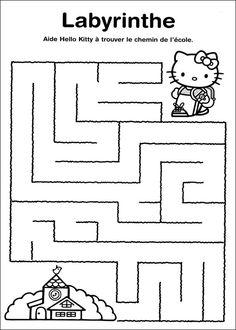 Jeu Du Labyrinthe Imprimer Worksheets Pinterest