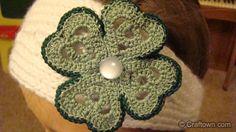 St. Patrick's Day Clover Applique - free crochet pattern