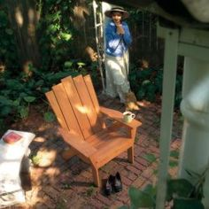 How to Make an Adirondack Chair and Love Seat: Finally, outdoor furniture that's easy to get in and out of. This Adirondack chair and matching love seat are designed for outdoor comfort. They're designed for easy assembly, so that a novice can build them. And you can build them from inexpensive, durable wood that, once stained, looks beautiful.