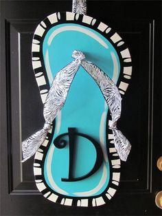 Flip flop door hanging.