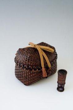 Bamboo basket by Hafu Matsumoto