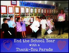 End the School Year with a Thank You Parade
