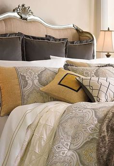 Featuring regal design and cool colors, the York Bedding Collection will transform your master suite into a relaxed, yet sophisticated space you won't want to leave.
