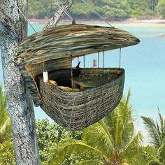 In this dining pod in Soneva Kiri, Thailand.