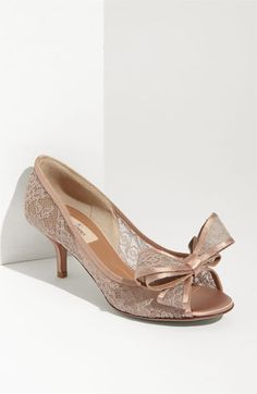 Valentino Lace Bow Pump Heels.