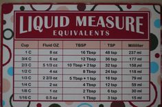 Measurement Chart. Totally needed. :)