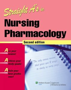 Straight A's in Nursing Pharmacology by Springhouse. $34.47. Save 25% Off!. http://yourdailydream.org/showme/dpaar/1a5a8r2z5y5c6k9f6l2z.html. Publisher: Lippincott Williams & Wilkins; Second edition (October 8, 2007). Edition: Second. Publication Date: October 8, 2007. This easy-to-read outline review follows the unique two-column Straight A's format that lets students choose how they study for NCLEX® and course exams. The interior column outlines key facts for in-depth...