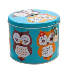Retro Owl Mug in Tin Moneybox - Owls and it's a tin, I'm in baby!