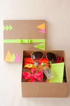 bachelorette party welcome box.