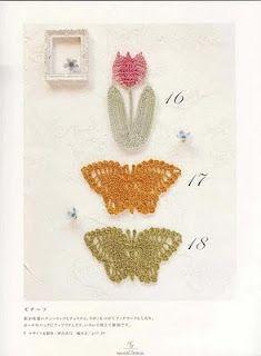 Patrones de mariposas y tulipanes.