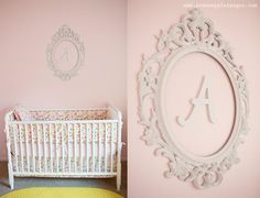 BEDDING!  Pink, Coral, Yellow You Are My Sunshine Nursery Monogrammed Wall