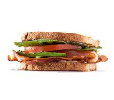 Tomato, Bacon, and Garlic Mayo Sandwich