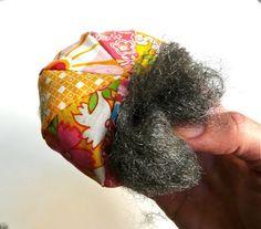 Steel Wool Stuffed Pincushion - Always have sharp pins!  Great idea!!!