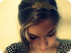 diy gold chain hair accessory  #tutorial #easy #headband