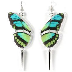 Butterfly Earrings Blue by REALM