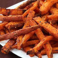 Oven-Roasted Sweet Potato Fries ~ so simple to make these crisp, flavorful, irresistible fries at home! These are my favorite kind of fries!