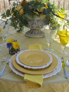 Tablescape * Lemon Yellow